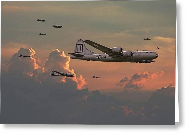 B29 Bomber Greeting Cards -  B29 - Korea Greeting Card by Pat Speirs