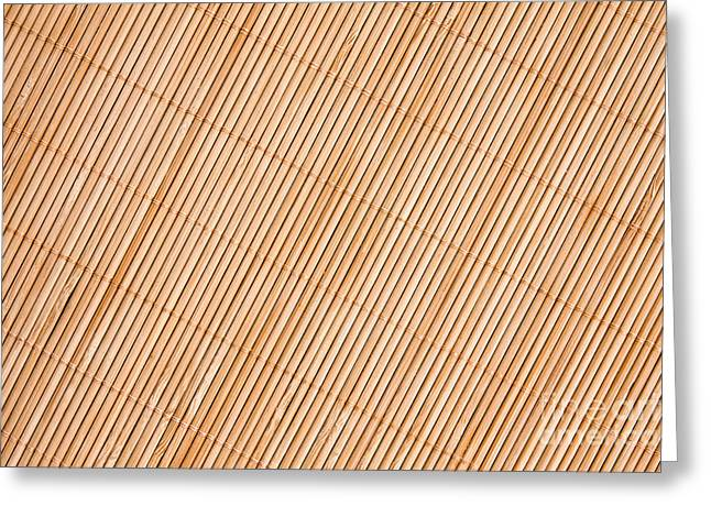 Beige Abstract Greeting Cards -  Bamboo  Background Greeting Card by G J