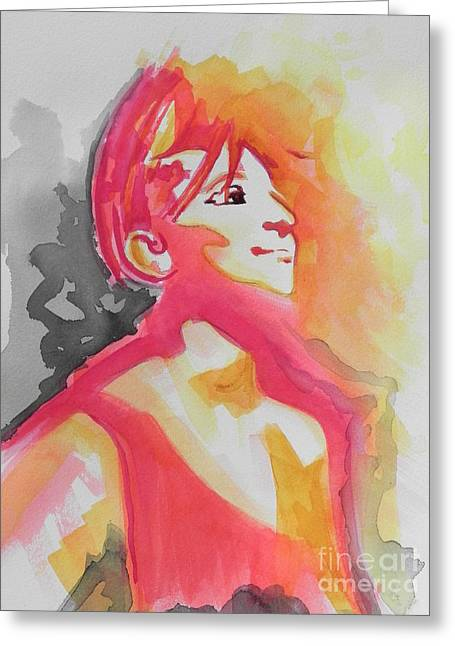 Famous Artist Greeting Cards -  Barbra Streisand Greeting Card by Chrisann Ellis