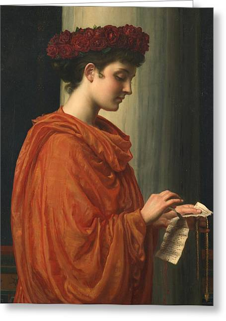 Profile Portrait Greeting Cards -  Barine Greeting Card by Sir Edward John Poynter