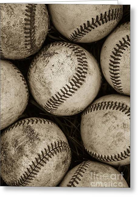 Baseballs Photographs Greeting Cards -  Baseballs Greeting Card by Diane Diederich