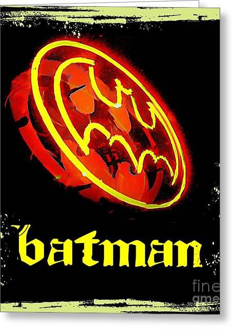 Art In Halifax Greeting Cards -  Batman in Halifax Greeting Card by John Malone