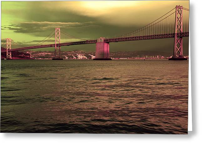 Famous Bridge Greeting Cards -  Bay Bridge San Francisco Greeting Card by Aidan Moran