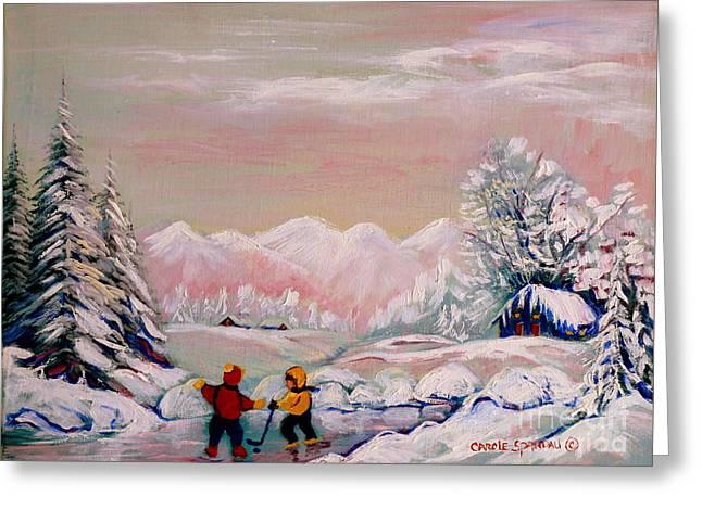 Beautiful Winter Fairytale Greeting Card by Carole Spandau