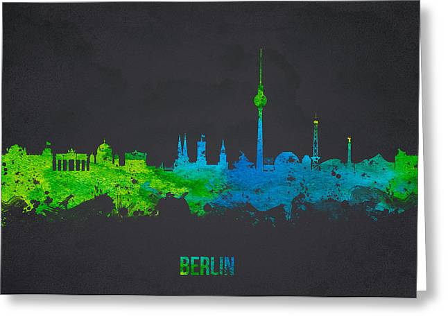 Culture Mixed Media Greeting Cards -  Berlin Germany Greeting Card by Aged Pixel