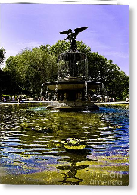 Bethesda Fountain Greeting Cards -  Bethesda Fountain - Central Park  Greeting Card by Madeline Ellis