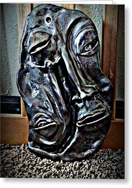 Ceramic Sculptures Greeting Cards -  Beyond Appearances Greeting Card by Wynter Peguero