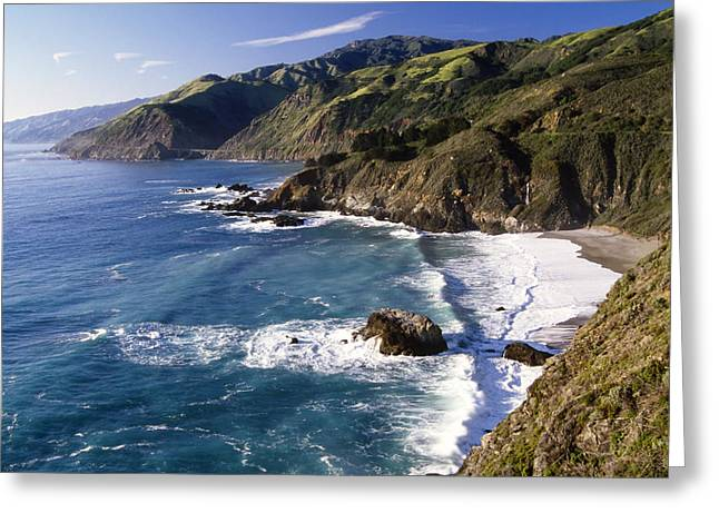 Beach View Greeting Cards -  Big Sur at Big Creek Greeting Card by George Oze