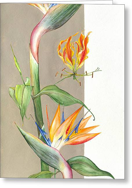 Yakubovich Greeting Cards -  Bird of paradise 09 Elena Yakubovich Greeting Card by Elena Yakubovich