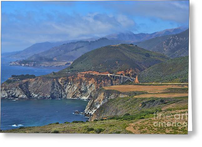 Bixby Bridge Greeting Cards -  Bixby Bridge 1 Greeting Card by Tommy Anderson