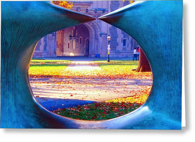 Blair Hall Gate  Greeting Card by George Oze