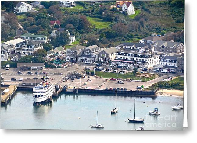 Recently Sold -  - Docked Boat Greeting Cards -  Block Island Greeting Card by Beth Saffer