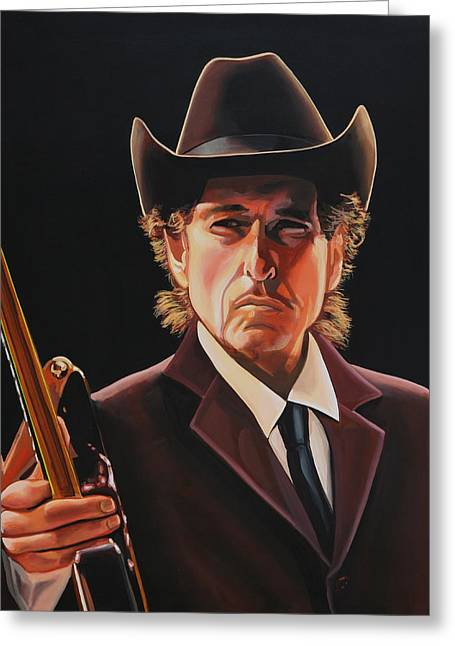 Bob Dylan Painting 2 Greeting Card by Paul Meijering