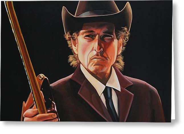 Writers Greeting Cards -  Bob Dylan 2 Greeting Card by Paul  Meijering