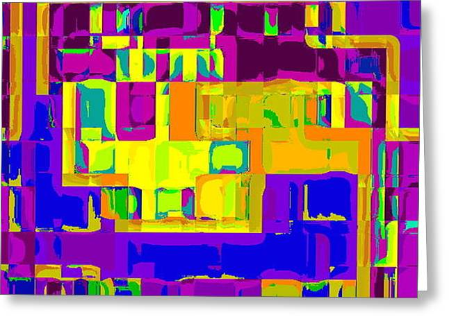 BOLD AND COLORFUL PHONE CASE ARTWORK CITY ABSTRACTS BY CAROLE SPANDAU CBS ART EXCLUSIVES 132  Greeting Card by CAROLE SPANDAU