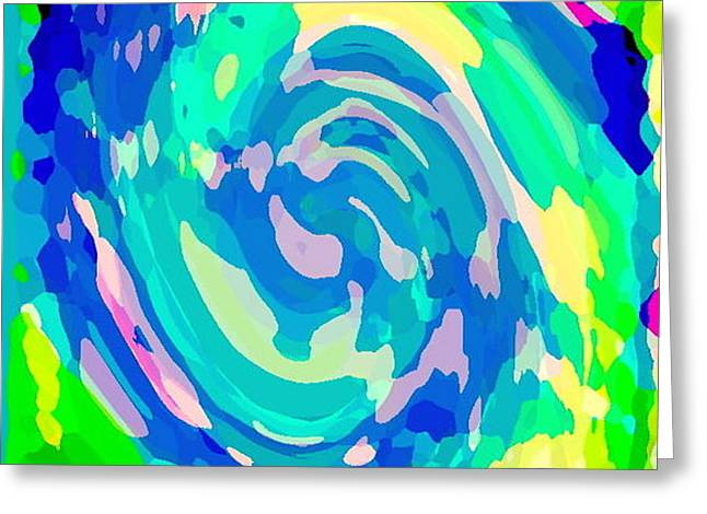 BOLD AND COLORFUL PHONE CASE ARTWORK LOVELY ABSTRACTS CAROLE SPANDAU CBS ART EXCLUSIVES 134  Greeting Card by CAROLE SPANDAU