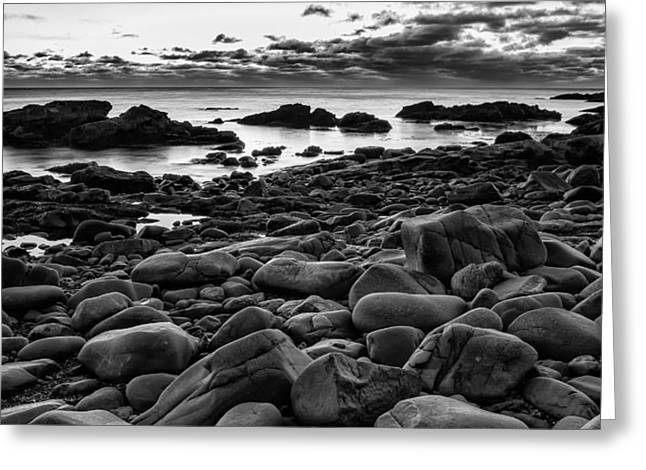 Boulders At Sunrise Marginal Way Greeting Card by Jeff Sinon