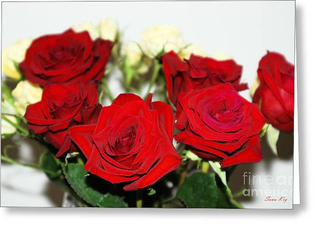 Surprise Greeting Cards -  Bouquet of Roses Greeting Card by Oksana Semenchenko