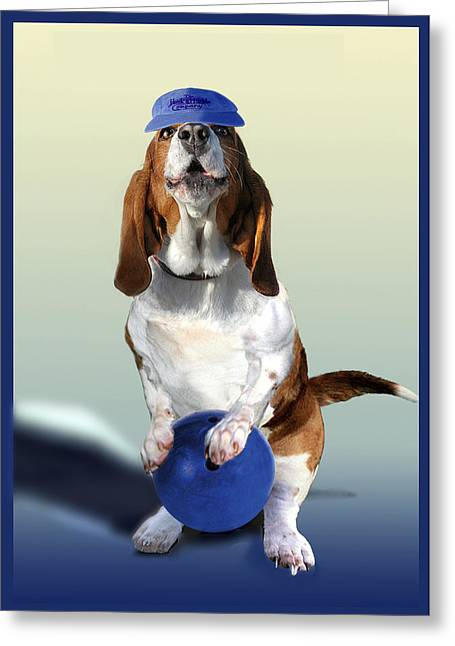 Humorous Greeting Cards Greeting Cards -  Bowling Hound Greeting Card by Gina Femrite