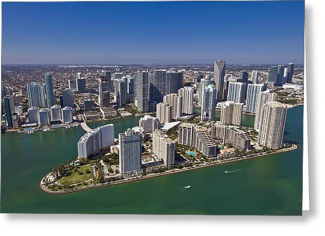 Brickell Greeting Cards -  Brickell Island Greeting Card by Patrick M Lynch