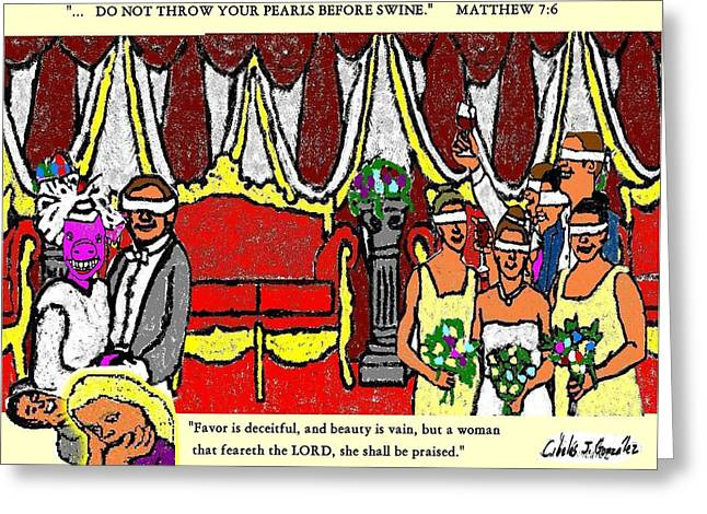 Protest Mixed Media Greeting Cards -  Brides For Blindmen Greeting Card by Cibeles Gonzalez
