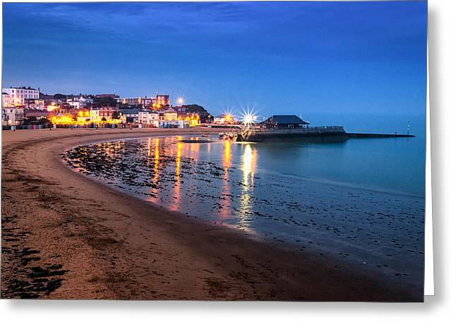 Broadstairs At Twilight.  Greeting Card by Ian Hufton