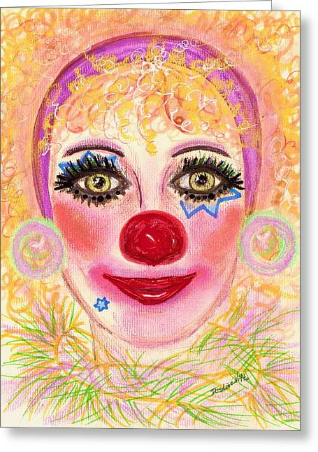 Warm Pastels Greeting Cards -  Bubbles Greeting Card by Desline Vitto