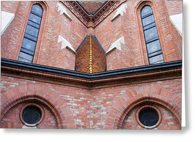 Reform Photographs Greeting Cards -  Buda Reformed Church Architectural Details Greeting Card by Artur Bogacki