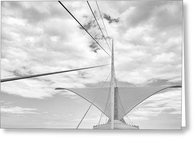 Milwaukee Art Museum Greeting Cards -  Burke Brise Solei Greeting Card by Scott Norris