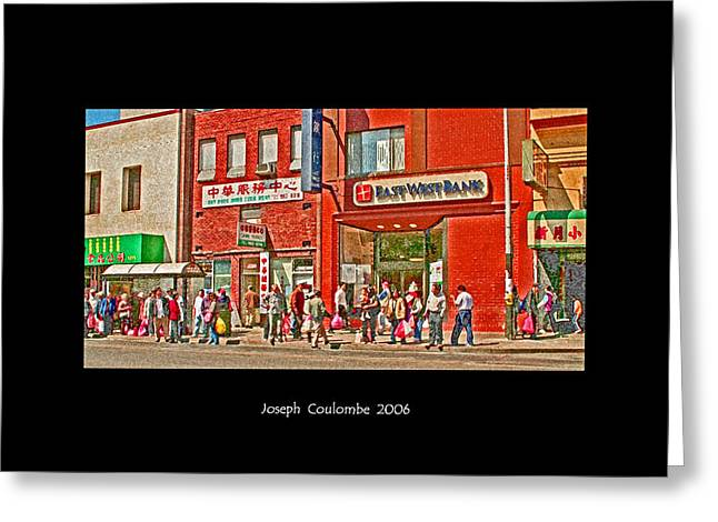 Bus Stop  Greeting Card by Joseph Coulombe