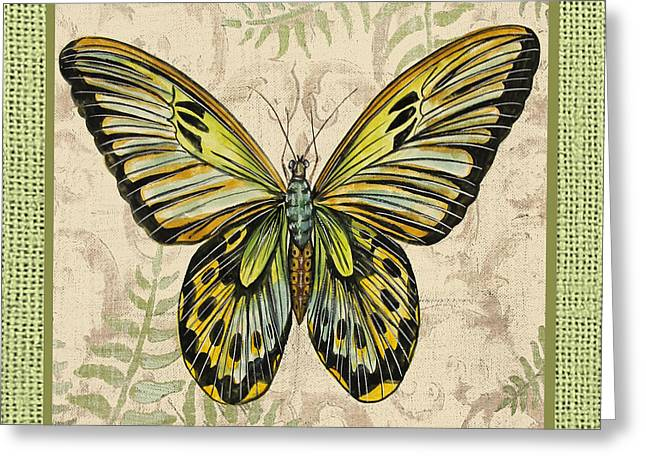 Scroll Digital Art Greeting Cards -  Butterfly Vignettes-B Greeting Card by Jean Plout