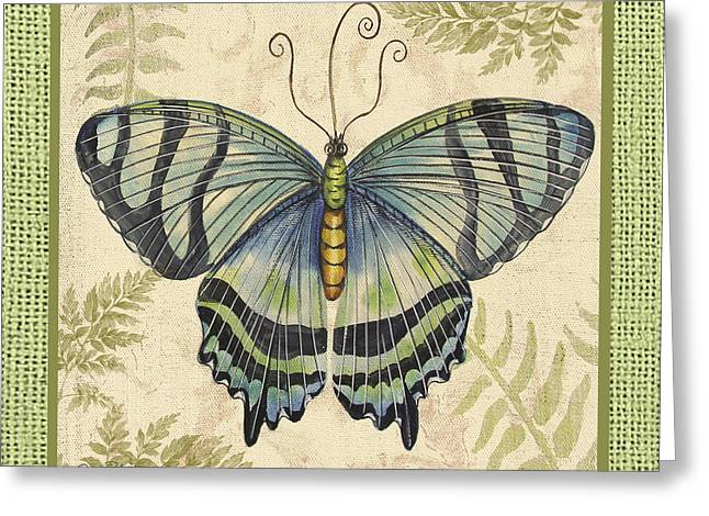 Butterfly Digital Art Greeting Cards -  Butterfly Vignettes-C Greeting Card by Jean Plout