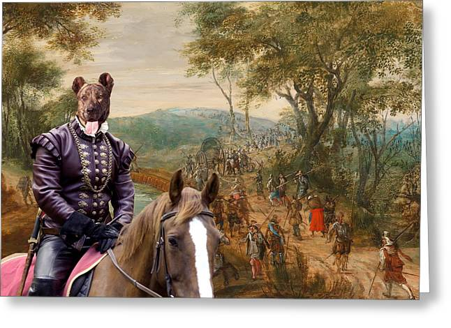 Miguel Art Greeting Cards -  Cao Fila de Sao Miguel - Azores Cattle Dog Art Canvas Print  Greeting Card by Sandra Sij