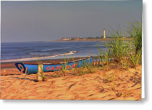 Atlantic Beaches Greeting Cards -  Cape May Beach Greeting Card by Nick Zelinsky