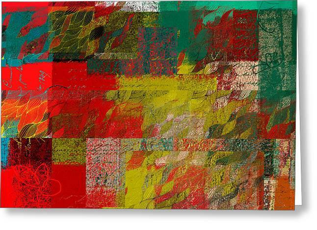 Cubist Greeting Cards -  Celebrations - 100100152-25xm Greeting Card by Variance Collections