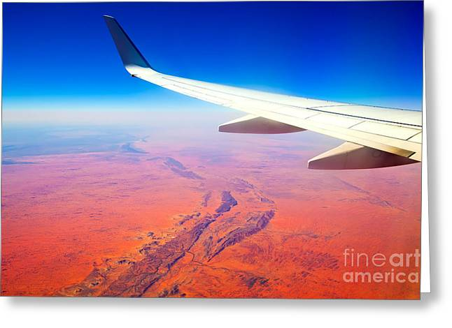 Central Greeting Cards -  Central Australia From The Air  Greeting Card by Bill  Robinson