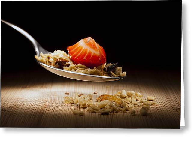 Granola Greeting Cards -  Cereal Greeting Card by Alexey Stiop