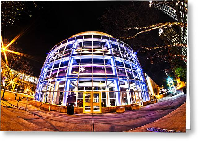 Charlotte Nc Usa Nightlife Around Charlotte Greeting Card by Alexandr Grichenko