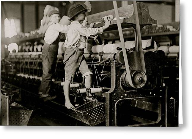 Unfair Greeting Cards -  Child Laborers Greeting Card by Unknown