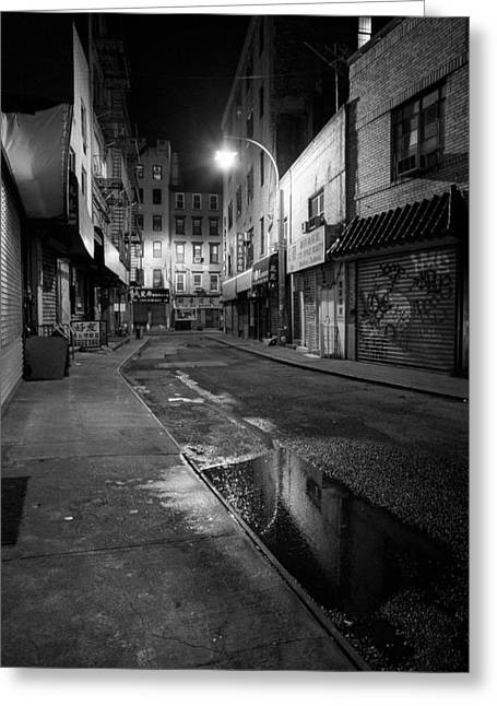 Store Fronts Greeting Cards -  Chinatown New York City - Doyers street Greeting Card by Gary Heller