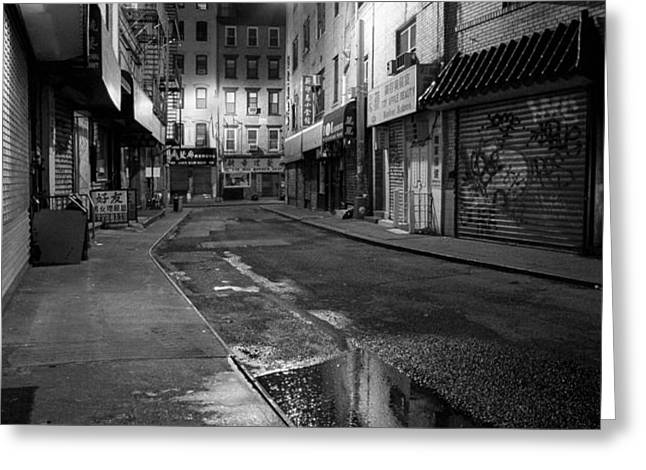 Chinatown New York City - Doyers street Greeting Card by Gary Heller