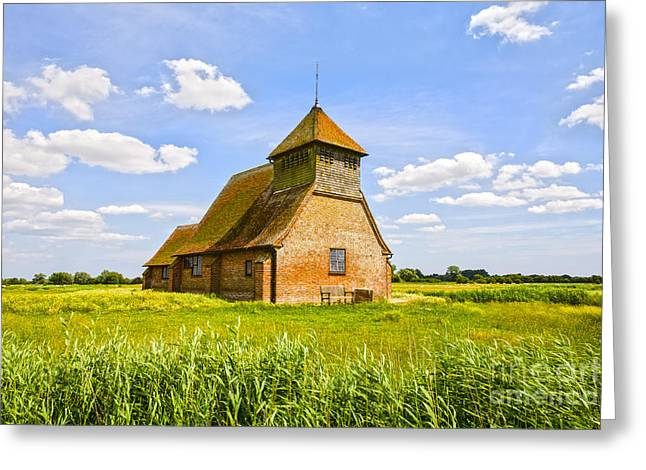 Church Of Thomas A Becket Romney Marsh Kent Greeting Card by Colin and Linda McKie