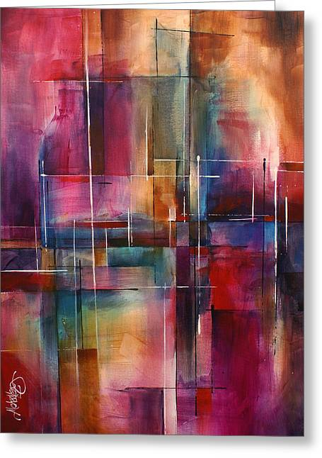 Geometric Design Greeting Cards -  City Limits  Greeting Card by Michael Lang