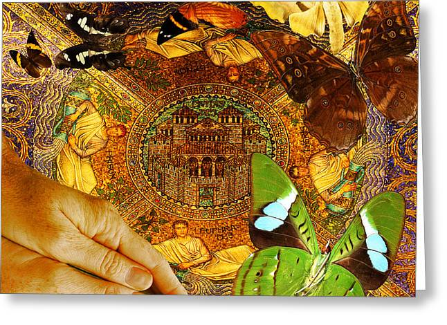 Renewing Digital Art Greeting Cards -  Civitate Dei   City of God  Greeting Card by Joseph Mosley