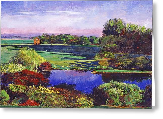 Blue Shadows Greeting Cards -  Country View Estate Greeting Card by David Lloyd Glover