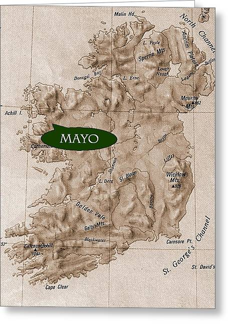 County Mayo  Ireland Greeting Card by Val Byrne