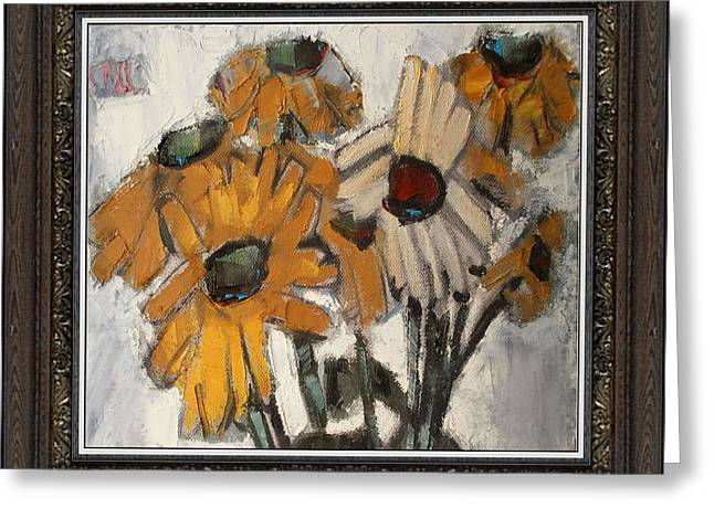 Floral Still Life Greeting Cards -  Daisies Greeting Card by Pemaro