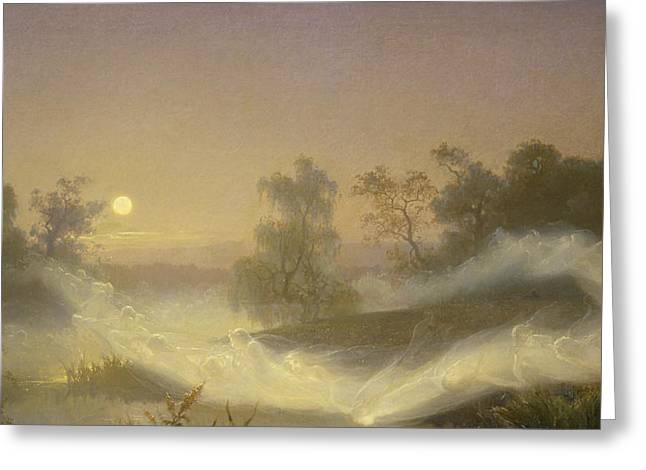 Dancing Fairies Greeting Card by August Malmstrom