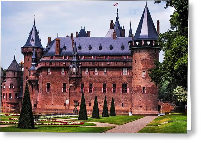 Peaceful Scene Greeting Cards -  De Haar Castle 4. Utrecht. Netherlands Greeting Card by Jenny Rainbow