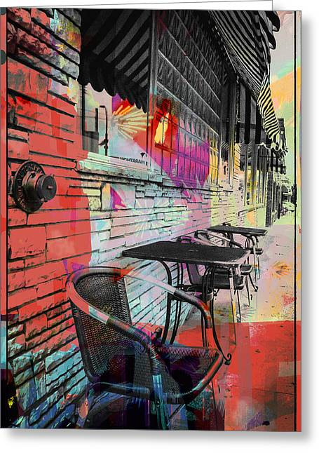 Table And Chairs Greeting Cards -  Dining In Sunshine  Greeting Card by Susan Stone